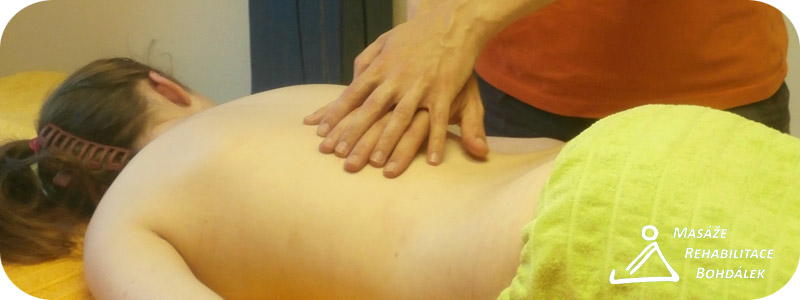 klasická masáž s logem