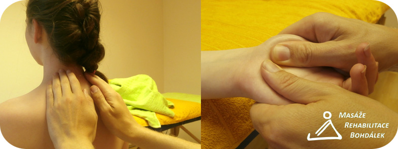 masáž zad plus dlaň s logem